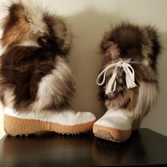 shoes italian oscar fox fur boots white size 40 poshmark rh poshmark com